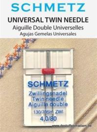 Schmetz Tweeling naalden 4,0/80 Universal
