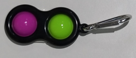Pop the bubble sleutelhanger  fuxia/groen.