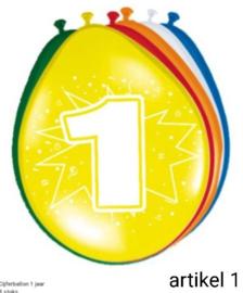 ballonen  1 t/m 10 jaar 8 stuks in verpakking klik hier op voor de andere leeftijden