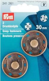 Prym 341261 Drukkers brons 30 mm. (krt)