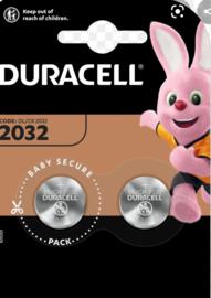 Duracell lithium knoopcel 2032  3 volt 2 stuks
