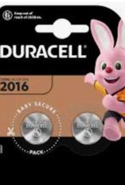 Duracell lithium knoopcel 2016  3 volt 2 stuks