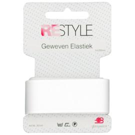 Restyle geweven elastiek wit 1m/30mm