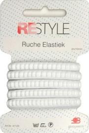 Restyle Ruche elastiek wit 2m/10mm