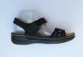 LW8867  sandaletten zwart maten 36 t/m 41
