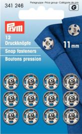 Prym 341246 Drukkers zilver 11 mm. (krt)