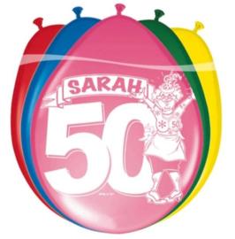 8 ballonnen Sarah