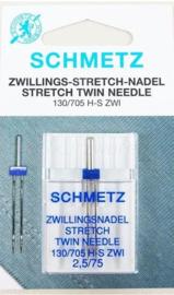 Schmetz Tweeling naalden 2,5/75 Stretch