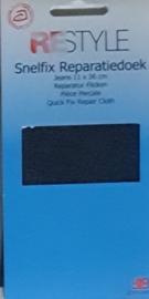 Restyle snelfix reparatiedoek jeans donker blauw opstrijkbaar