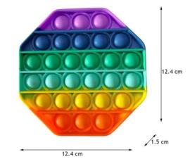 Pop the bubble 8 kant regenboog