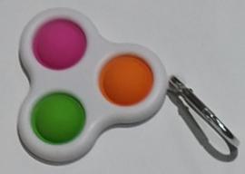 Pop the bubble sleutelhanger  rose/groen/oranje.