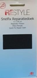 Restyle snelfix reparatiedoek zwart opstrijkbaar