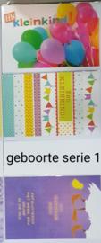 3 wenskaarten met envelop geboorte keuze uit 10 series klik hier voor andere series