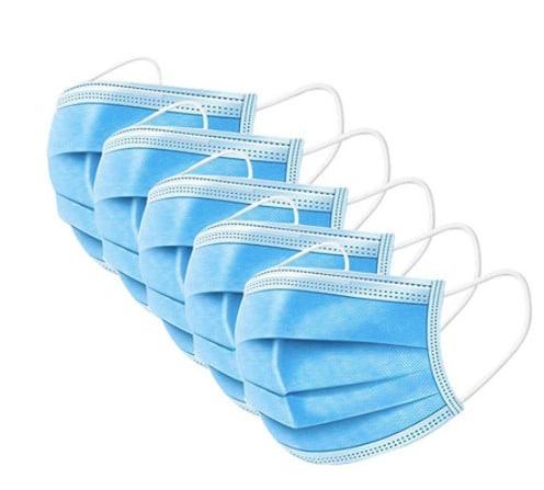 50 stuks 3 laags mondkapjes blauw