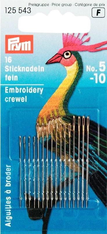 Prym 125543 Crewelnaalden nr. 5-10 (krt)