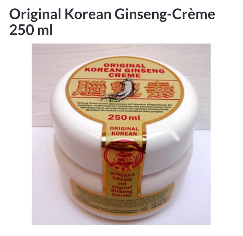 Original Korean Ginseng Creme 250 ml.