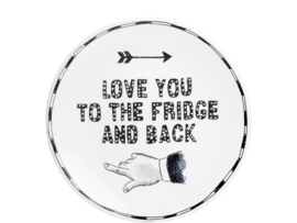 X Noir Plate 22 cm Love You