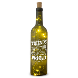 Wine Light fles Friends