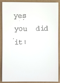 Yes you did it!