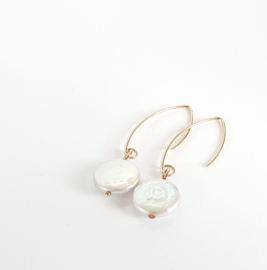 SILVER WHITE COIN PEARLS