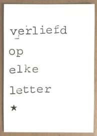 Verliefd op elke letter