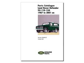 Onderdelen catalogus Defender