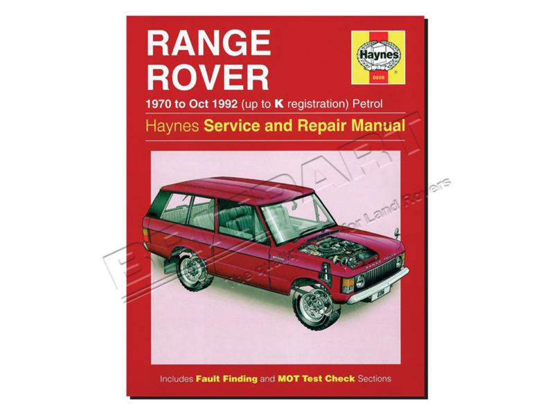 Werkplaatshandboek Range Rover