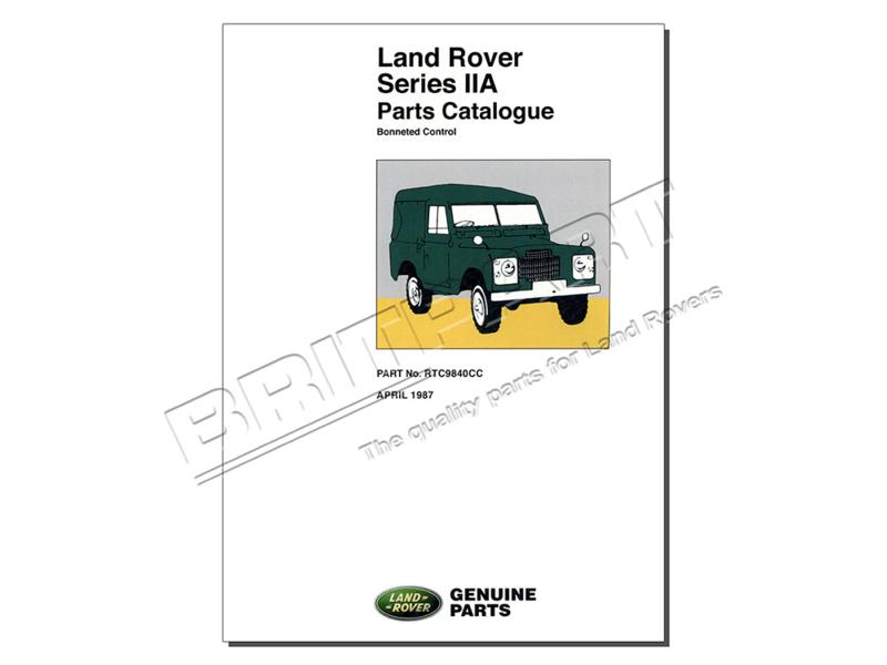 Onderdelen catalogus Landrover Series IIA