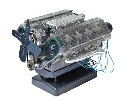 Werkend model V8 motor