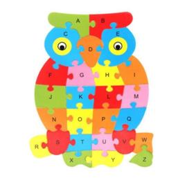 Puzzel uil voor alfabet training