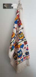 Handdoek met uilenopdruk