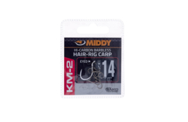 MIDDY KM-2 Hair-Rig Eyed Hooks