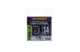 MIDDY KM-4 Carp X-Strong Spade Barbless Hooks
