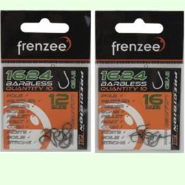 Frenzee 1624 Barbless Eyed Hooks Size 14