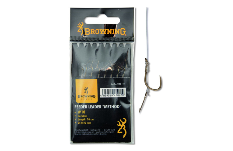 Browning Feeder Method onderlijn met boilienaald