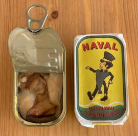 Portugese kabeljauw, in olijfolie en knoflook (Naval)