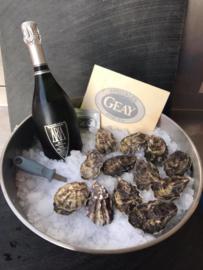 Geay oesters en bubbels