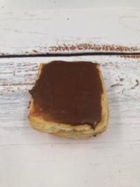 Vierkant pudding chocolade