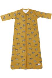 Meyco - Gevoerde Slaapzak - Zebra - Oker geel
