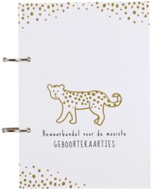 Meyco - Geboortekaartjes Bundel - Cheetah - Honey Gold