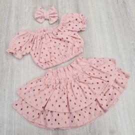 Set Crop top Pink