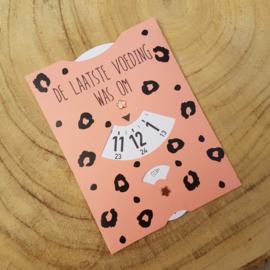 Voedingskaart zalmroze leopard
