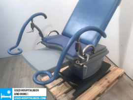 "4 PCS GYNEGOLOGICAL CHAIR ""KARL BAISCH"" DE LUXE BLUE"