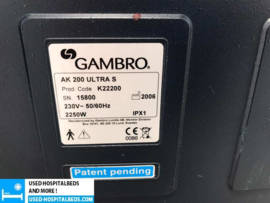 GAMBRO AK200 ULTRA S DIALYSE MACHINE