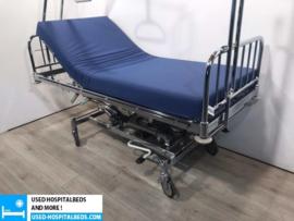 6 PCS. BUKOWANSKI 2-SECTION HYDRAULIC HOSPITALBED NR 81