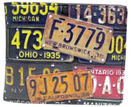 wallet vintage plate