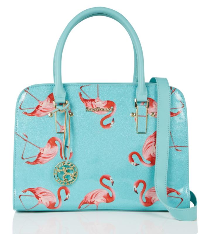 Shagwear tas flamingos mint L