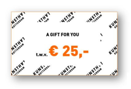 Giftcard € 25,-  Kunsthalwinkel