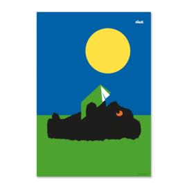 Poster Zwarte Beertjes Dick Bruna, zon