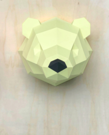 3D Paper Polar Bear – Limited Edition Yellow